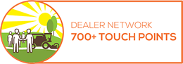 Dealer network 700+ touch points