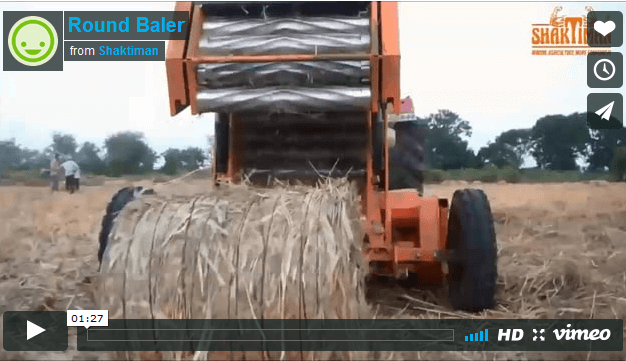Round Baler | Straw Bailing- Shaktiman