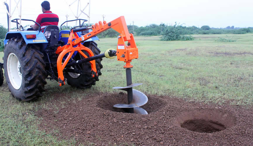 Hydraulic Post Hole Digger Shaktiman